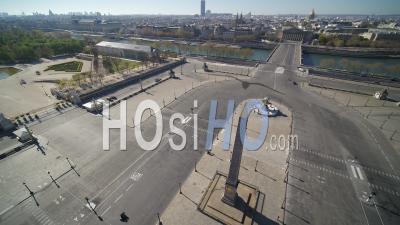 Place De La Concorde à Paris Pendant Le Confinement Vidéo Covid-19