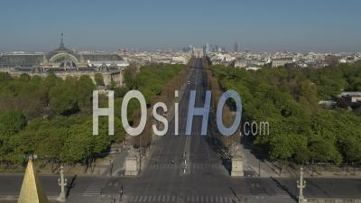 Place De La Concorde In Paris During The Covid-19 Lockdown Video Drone Footage
