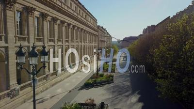 Aerial View Of Bordeaux City, Unesco, The Golden Triangle, Place De La Comedie, Grand Theater - Video Drone Footage