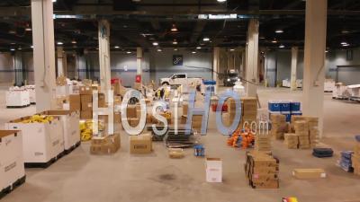 2020 - Bonnes Photos Aériennes D'un Hôpital D'urgence Construit Au Mccormick Convention Center à Chicago Pendant L'épidémie D'épidémie De Coronavirus Covid-19.