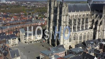 Cathedral Notre Dame Of Amiens During Covid-19 Outbreak, France