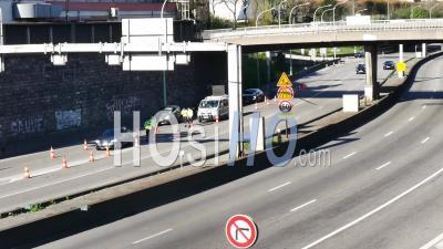 Covid19 - La Police Bloque L'entrée De L'autoroute Sud
