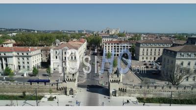 Avignon In Containment - Video Drone Footage