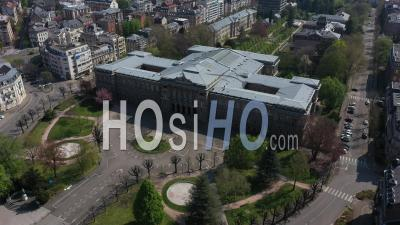 Empty City Of Strasbourg During Lockdown Due To Covid-19 - University Palace - Video Drone Footage
