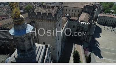 Palais Des Papes - Video Drone Footage
