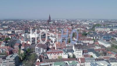 Strasbourg Under Containtment En Raison De Covid-19, Centre-Ville - Vidéo Par Drone