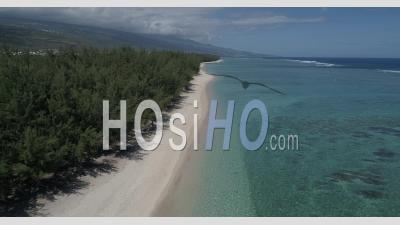 Ermitage Beach, During Confinement Covid19, Reunion Island - Video Drone Footage