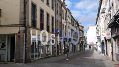 Centre-Ville Vide à Quimper, Finistère, Bretagne, France