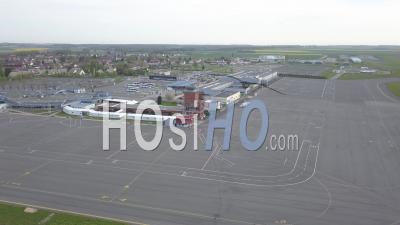 Aerial View Of Beauvais Airport, Oise, France - Video Drone Footage