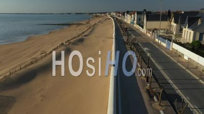 Chatelaillon-Plage Drone Point Of View During Covid-19 Outbreak