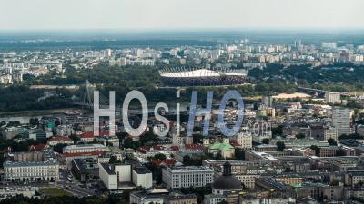 Stade Pge Narodowy, Pont Swietokrzyski, Plupart Des Swietokrzyski, Prague, Varsovie, Warszawa Vidéo Drone