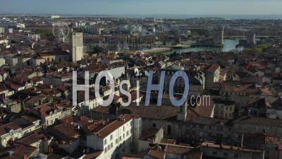 La Rochelle Historical Center Drone Point Of View During Covid-19 Outbreak
