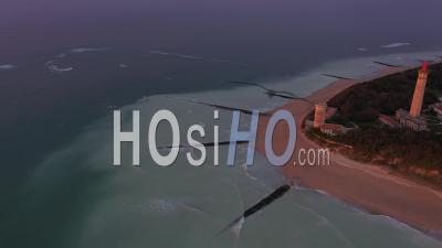 Baleines Lighthouse Drone Point Of View During Covid-19 Outbreak