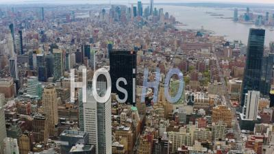 Manhattan New York Pendant La Pandémie De Covid-19 - Vidéo Drone