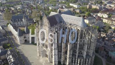 Saint-Pierre Cathedral Of Beauvais, France - Video Drone Footage