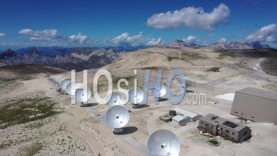 Plateau De Bure Observatory, France, Drone Point Of View