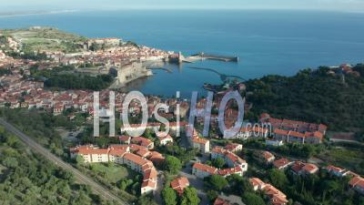 The Town Of Collioure, Viewed From Drone
