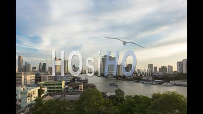 Bangkok Chao Praya Timelapse Sunset