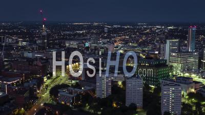 Aerial View Shot Of Birmingham Uk - Video Drone Footage