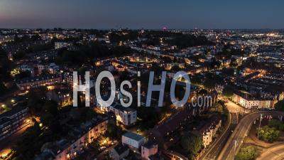 Aerial View Shot Of Bristol Uk - Video Drone Footage