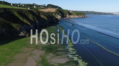 View Of The Beach Of Trezmalaouen At Douarnenez, Finistere, France