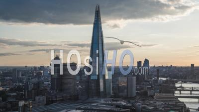 Majestic Skyline, Shard, Establishing Aerial View Of London Uk, United Kingdom - Video Drone Footage