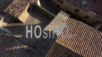Miramas Old Village In Provence In Winter - Video Drone Footage