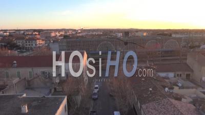 Gare De Miramas En Hiver - Vidéo De Drone Vidéo