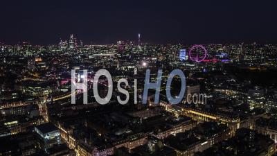 Establishing Aerial View Of London Uk, London Skyline, Mayfair West End - Video Drone Footage