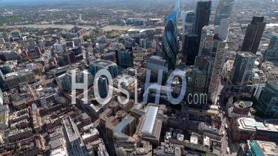 Ville De Londres Et Tamise, Londres, Filmé En Hélicoptère