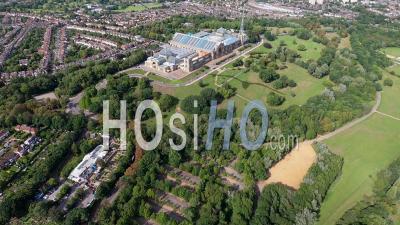 Bbc Alexandra Palace, Londres, Filmé Par Hélicoptère