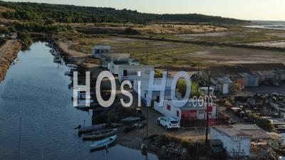 Fisherman Traditional Village Near Gruissan, Seen By Drone