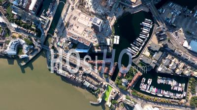 Vertical Imagery Of Canary Wharf, Docklands Tower Development, Isle Of Dogs, London, Filmed By Pa-34