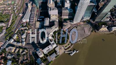 Isle Of Dogs And Canary Wharf, London Filmed By Pa-34