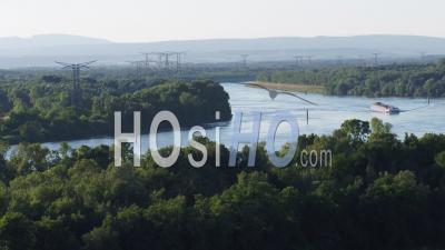 Rhone At Mornas - Video Drone Footage