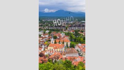 Vue Depuis Le Château De Ljubljana De La Vieille Ville De Ljubljana, Slovénie, Europe