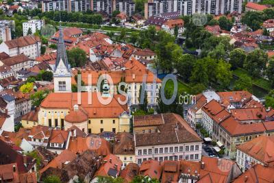 View From Ljubljana Castle Of Ljubljana Old Town, Slovenia, Europe