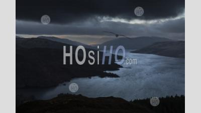 Loch Katrine Vu Du Sommet De Ben A'an, Loch Lomond Et Le Parc National Des Trossachs, Highlands, Ecosse, Europe