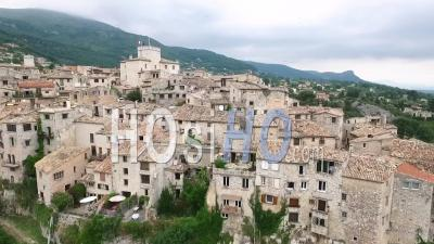 Tourrettes-Sur-Loup In France - Video Drone Footage