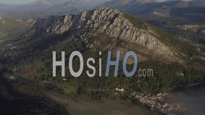 Caille Andon Alpes-Maritimes France Mountain Forest - Video Drone Footage