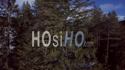 Dolomites Italie Mountain Snow Winter Patrimoine Mondial De L'unesco - Video Drone Footage