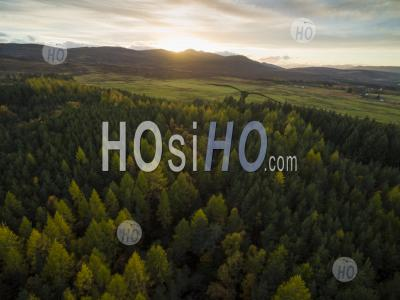 Beautiful Autumn Colours In The Scottish Highlands - Aerial Photography