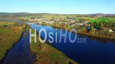 Aerial View Of Bonar Bridge Sutherland Ecosse, Royaume-Uni - Video Drone Footage