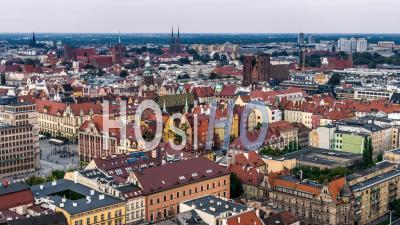 Hôtel De Ville, Ratusz, Vieille Ville, Stare Miasto, Wroclaw Vidéo Drone