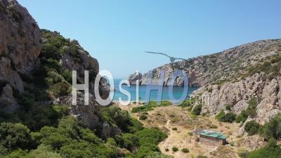 Plage Sur L'île De Chios - Vidéo Drone