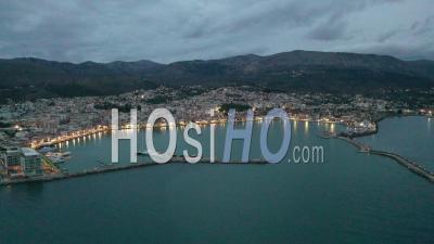 Chios Port Dask - Vidéo Filmée Par Drone
