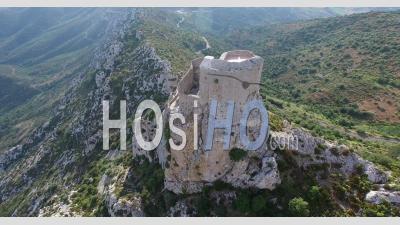 Chateau Cathare De Queribus Vidéo Drone