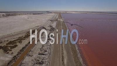 The Salt Flats And Works Of Giraud, Camargue, France – Aerial Video Drone Footage