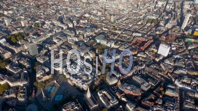 Vue De Trafalgar Square à Piccadilly Circus Et Mayfair, Londres, Filmé En Hélicoptère