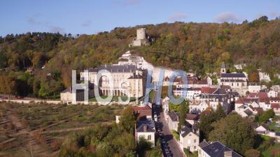 La Roche-Guyon, Village Et Castel - Vidéo Par Drone